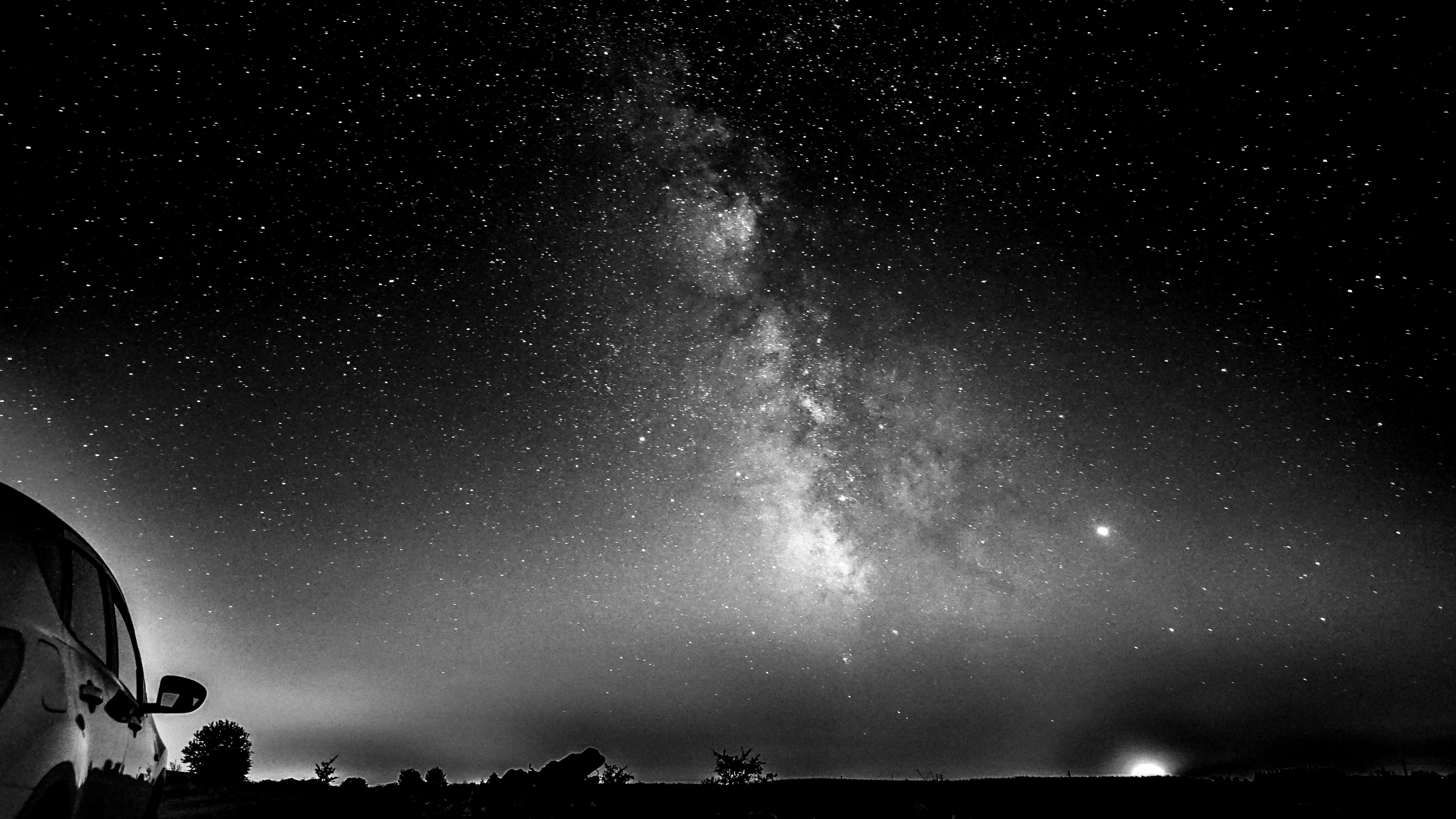 Milky Way first attempt BW