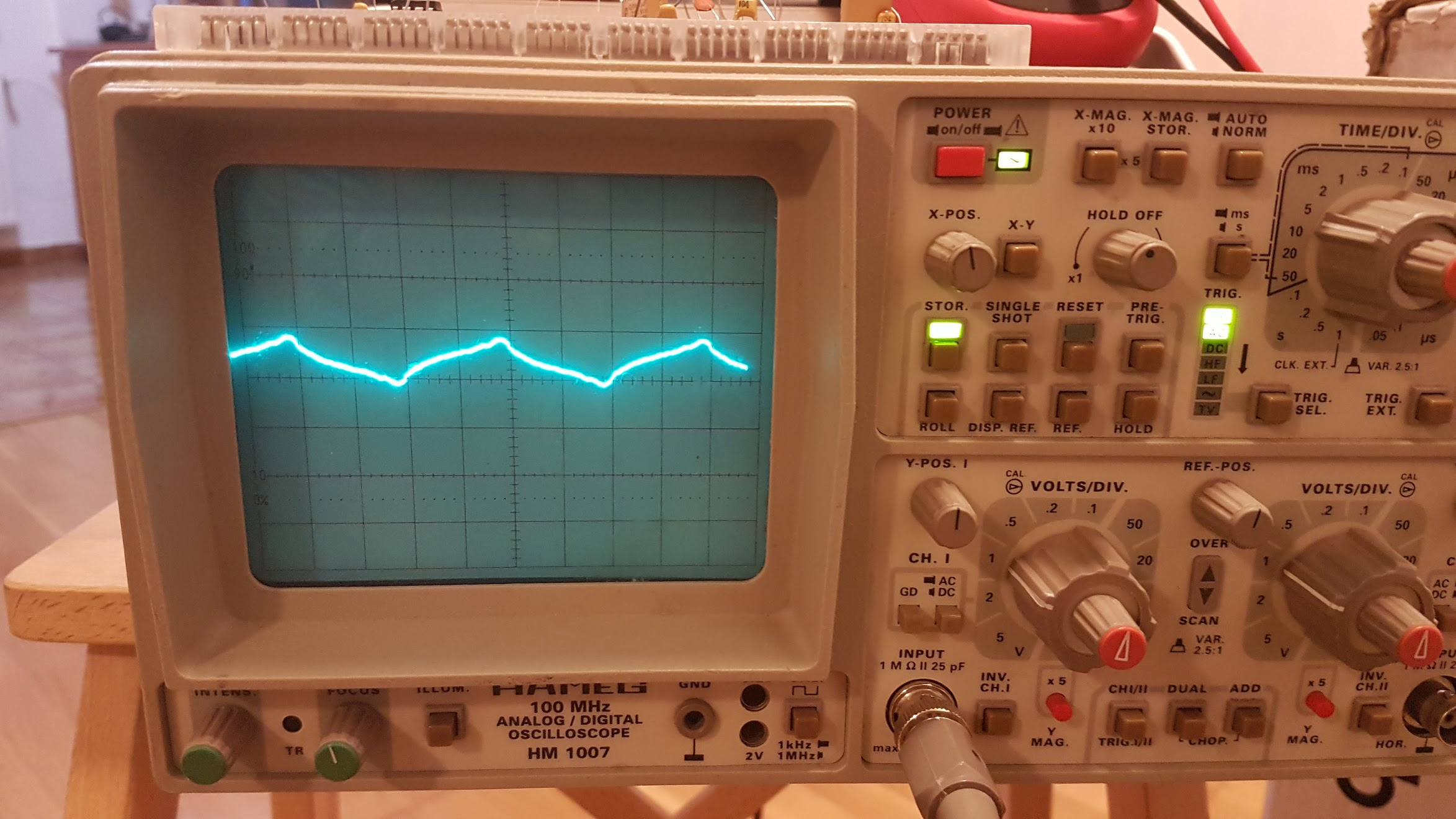 Energy monitor oscilloscope